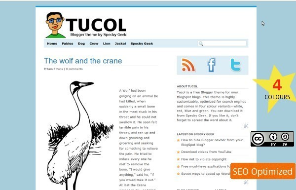 Tucol, Elegant and Minimal Free Blogger Template