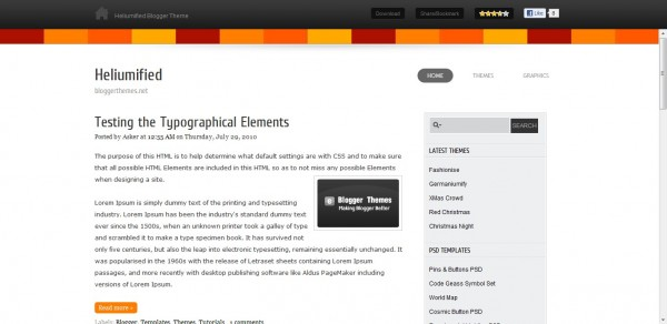 Heliumified Blogger Template