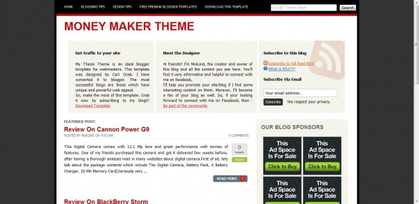 MyThesis Blogger Template
