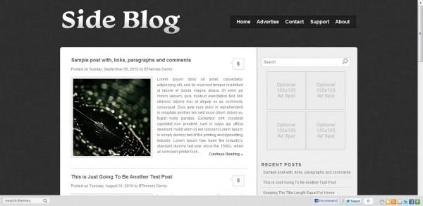 Sideblog Blogger Template