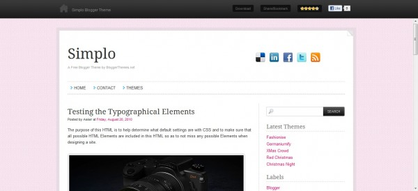 Simplo Blogger Template