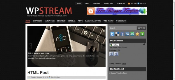 Wpstream Blogger Template