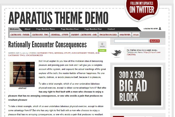 Aparatus WordPress Theme