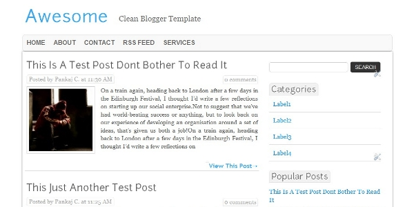 Awesome Free Blogger Template