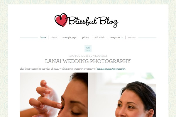Blissful Blog WordPress Theme