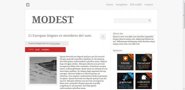 modest Blogger Template