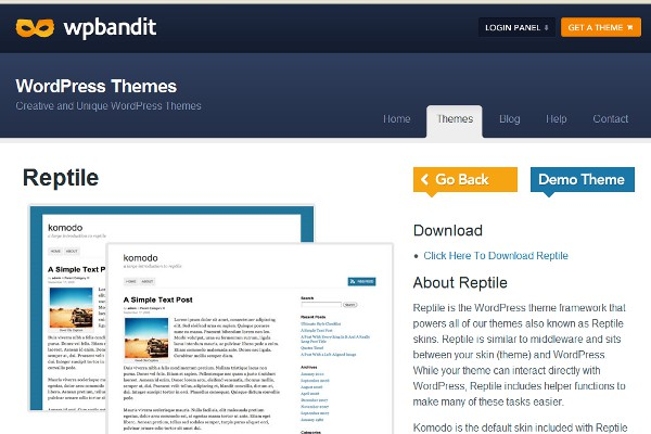Reptile WordPress Theme