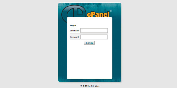 Install WordPress Cpanel Login Screen