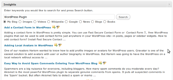 Improve WordPress Blog SEO With Insights Plugin