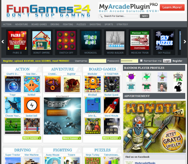 free flash game websites