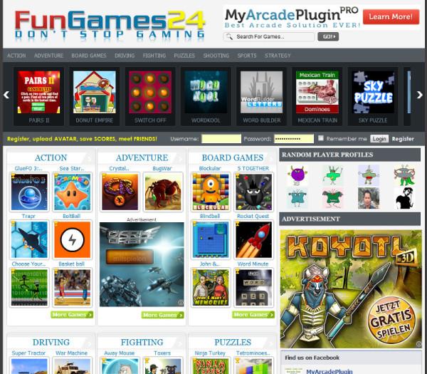 website games free make online