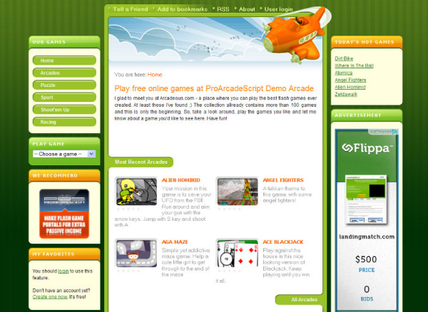 How to create Flash game website for passive income