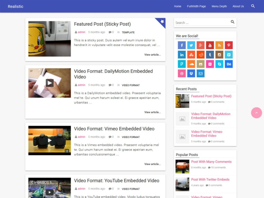 realistic-wp-blogging-theme