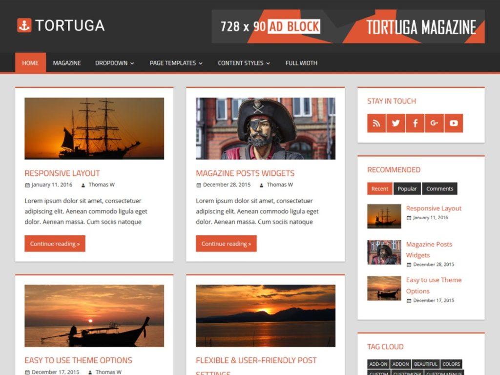 tortuga-wp-mag-theme