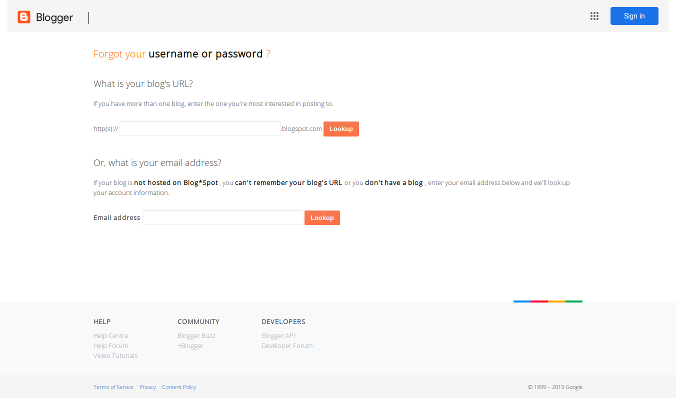google password recovery email not received