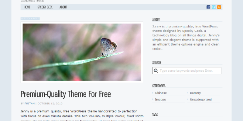 Jenny Free WordPress Theme