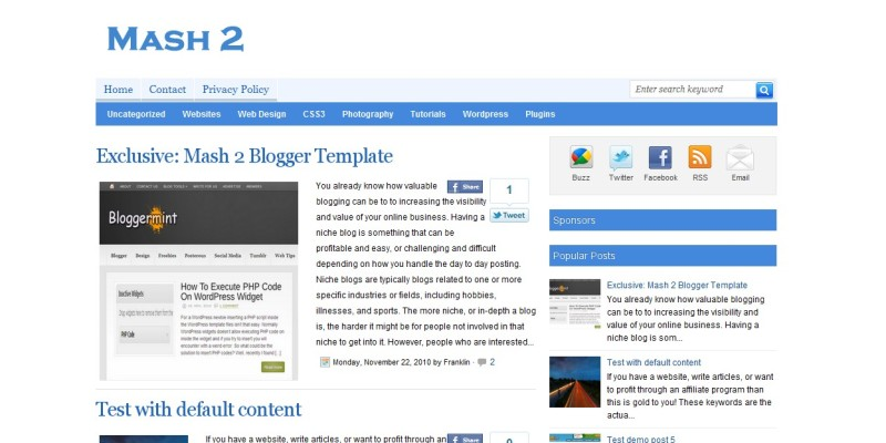 15 premium free blogger templates accmission Choice Image