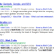 Adding author information in Google search results