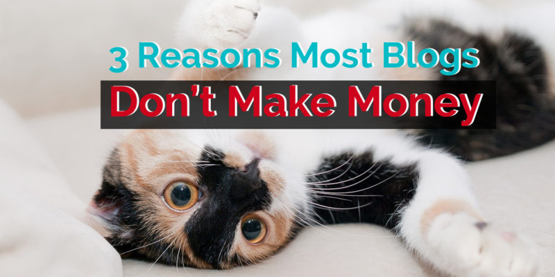 3 Reasons Most Blogs Don't Make Money (And Ways Your Blog Can)