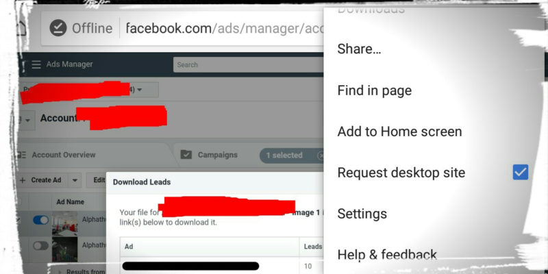 How to Download Facebook Ad Leads on Mobile?