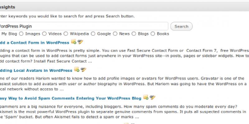 Improve WordPress Blog SEO With Insights Plugin